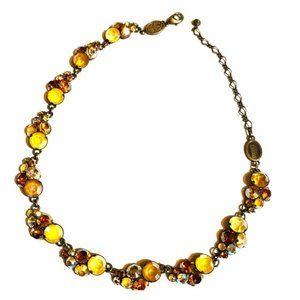 Stunning Amber Jeweled Necklace by Konplatt